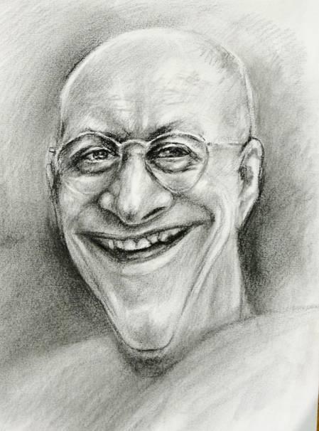 Pszoniak,karykatura,rysunek,autor Maciej Szproch http://artpropo com